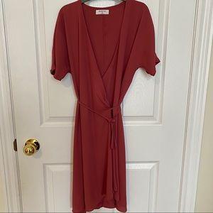 Dresses & Skirts - Aritzia   Babaton wrap dress